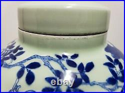 Chinese Old Blue and White Porcelain Ginger Jar