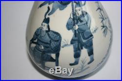 Chinese Porcelain Blue and White Painting Vase Marks