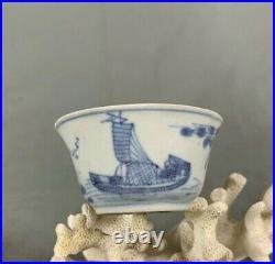 Chinese Shipwreck Cargo Blue and White Island Seascape Tea Bowl c1740