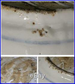 Chinese Zhangzhou ware Antique Blue & White porcelain plate kosometsuke CCVP37