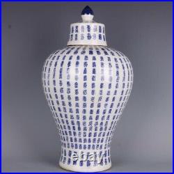 Chinoiserie vase blue and white Chinese Porcelain Ginger Jar 1.1