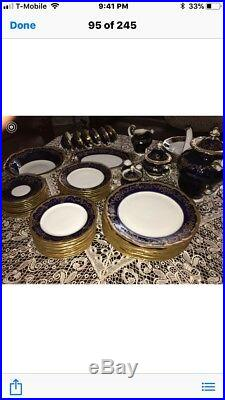 Complete Weimar Katharina 20003 Cobalt Dinner Set-Excellent