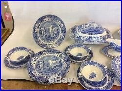Copeland Spode Italian Pattern Blue & White Dinner Service. 6 Settings