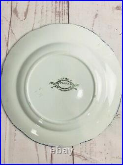 Creil Montereau Flora Small Plates Blue And White French Antique