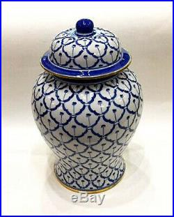 Decorative Jars Grand Palace Blue & White Porcelain Ginger Jar