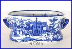 Delightful Blue & White Porcelain Planter Jardiniere