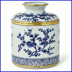 English Garden Blue & White Porcelain Tissue Dispenser Tissue Cover
