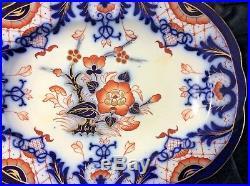 English porcelain Bloor Derby Orange Blue White Platter/TRAY 1825