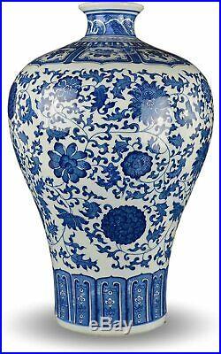 Festcool 15 Classic Blue and White Floral Porcelain Vase, Prunus (Plum) Vase Ch