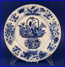 Fine Antique Pair of Chinese Blue & White Porcelain Big Plates 1662-1722 Kangxi
