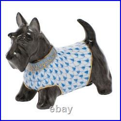 Herend Scottie Mcduff Blue Fishnet Dog #vhb-05598 Brand Nib Cute Save$$ F/sh