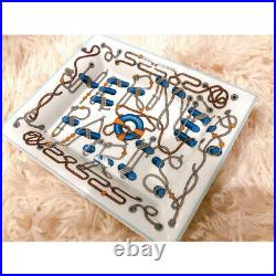Hermes Cordages Change tray Blue Ashtray rope VIDE POCHE Tableware R350