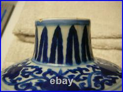 Important Chinese porcelain blue and white jar Ming Wanli mark & period 17thC