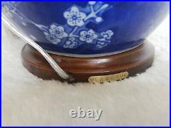 LAUREN RALPH LAUREN Blue&White Porcelain Porcelain BIG Table Lamp 67x42cm, NEW