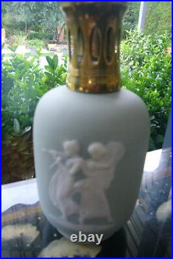 Lampe Berger Paris Made In France Tharaud Wedgwood Grey- Blue Cameo White