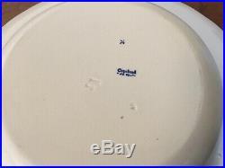 Large Antique Copeland New Spode Soup Bowl Plate Greek Vases Blue & White
