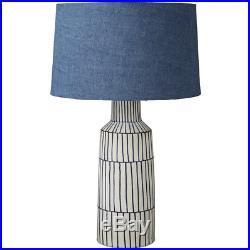 Lene Bjerre Mardea Table Lamp BLUE WHITE 56cm H x 32cm W x 32cm D