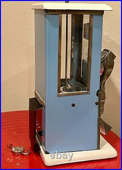 Master Gumball / peanut Machine Fantail 77 Blue/White Porcelain With Wall Mount