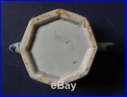 Miniature Chinese Porcelain Blue & White Octagonal Teapot Kangxi C. 1700