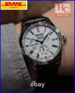 NEW Seiko Presage SPB093J1 Automatic Men's Watch With Porcelain Dial Leather Men