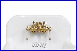 NEW Small Wall Mount High Back Bath Sink Deep Basin 22 Package, Navy/Brass
