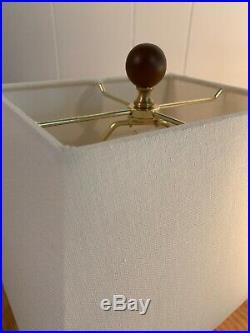 NWTPair of Ralph Lauren Home Collection Mandarin Blue White Lotus Flower Lamps