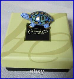 New Herend Tiny Turtle Blue Fishnet #vhb-15529 Brand Nib Adorable Save$$ F/sh