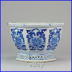 Nice Blue White Chinese Porcelain Planter flowers & Blue White China