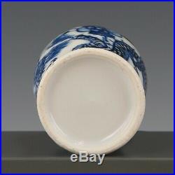 Nice Blue & White porcelain 3-piece garniture, 19th ct. 4-claw dragon