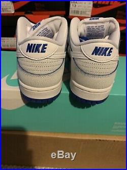 Nike SB Dunk Low Porcelain Size 7 white game royal