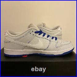Nike Sb Dunk Low Royal White Porcelain Cj6884100 Sz 13 Supreme Jordan