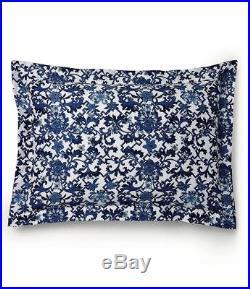 RALPH LAUREN 3pc Dorsey Porcelain Blue White Lotus KING DUVET COVER SHAMS SET