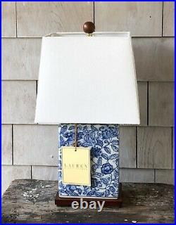 RALPH LAUREN Blue & White Mandarin Floral Porcelain Small Table Lamp New