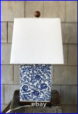 RALPH LAUREN Blue & White Mandarin Floral Small Porcelain Table Lamp New