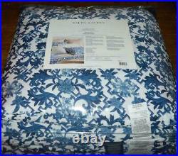 RALPH LAUREN Dorsey Porcelain Inspired Vibrant Blue 3P FULL/ QUEEN COMFORTER SET