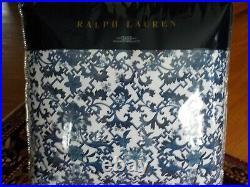RALPH LAUREN Dorsey Porcelain Inspired Vibrant Blue Cotton KING COMFORTER NEW