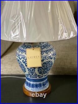 Ralph Lauren Blue & White Ginger Jar Porcelain Lamp