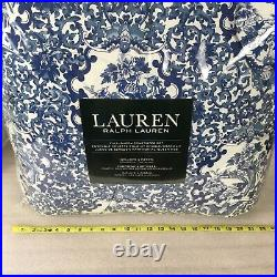 Ralph Lauren Full Queen Comforter Set 2 Shams Porcelain Blue White Tamarind 3-Pc