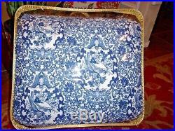 Ralph Lauren Home Queen Size Comforter Blue White Porcelain Tamarind Design
