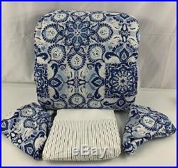 Ralph Lauren King Comforter Set Porcelain Blue White Shams Bed Skirt Stripe READ