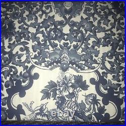 Ralph Lauren Porcelain Tamarind Bird Dark Blue White King Duvet Set 3 New