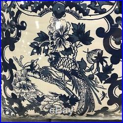 Ralph Lauren Porcelain Tamarind Blue White King Comforter Shams Set 3 New