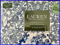 Ralph Lauren Porcelain Tamarind Blue White King Duvet 3pc Set NEW Toile
