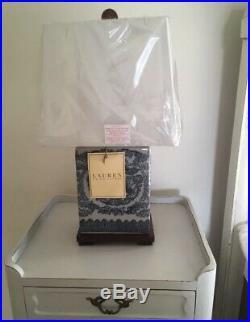 Ralph Lauren Table Lamp Blue White Koi Fish Brass New Set of 2