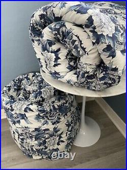 Ralph Lauren Tamarind Nanking Porcelain Floral Dragon Blue White TWIN Comforters