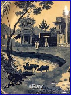 Rogers Blue White Staffordshire Transferware 21 Camel Platter Oriental c. 1820