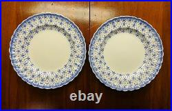 SPODE COPELAND FLEUR-DE-LIS SET OF SIX 10 SCALLOPED EDGE DINNER PLATES VgC