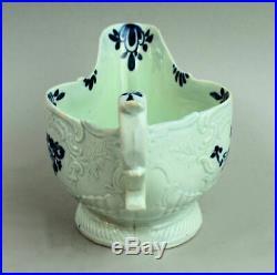 Seth Pennington Liverpool Antique Porcelain Blue & White Sauce Boat C. 1770