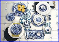 Spode Blue Italian Collection Vegetable Dish & Cover, 12 Serveware Blue White