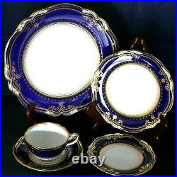 Spode Lancaster-Cobalt (White Body) Five Piece Place Setting Still Have Two